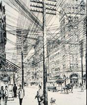 manhattan street, circa 1890