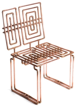 Wonderful Copper Piping Chair
