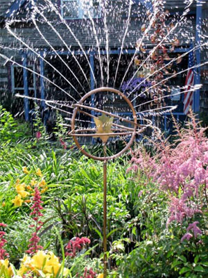 Copper Garden Art with a Kinetic Twist