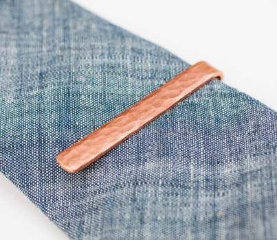 Forged Copper Tie Bar by Will Alderfer Metalarts