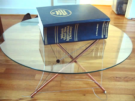 Do It Yourself Copper Tensegrity Table
