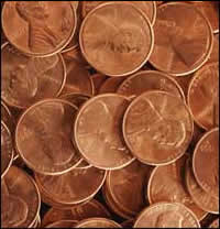 What causes pennies to get dirty?