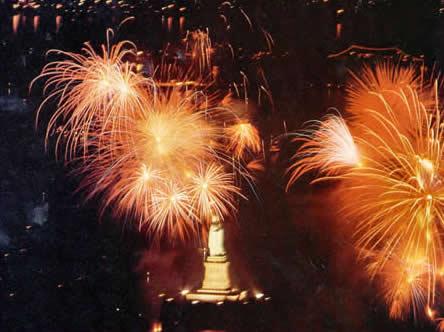 statue of liberty fireworks. Liberty fireworks